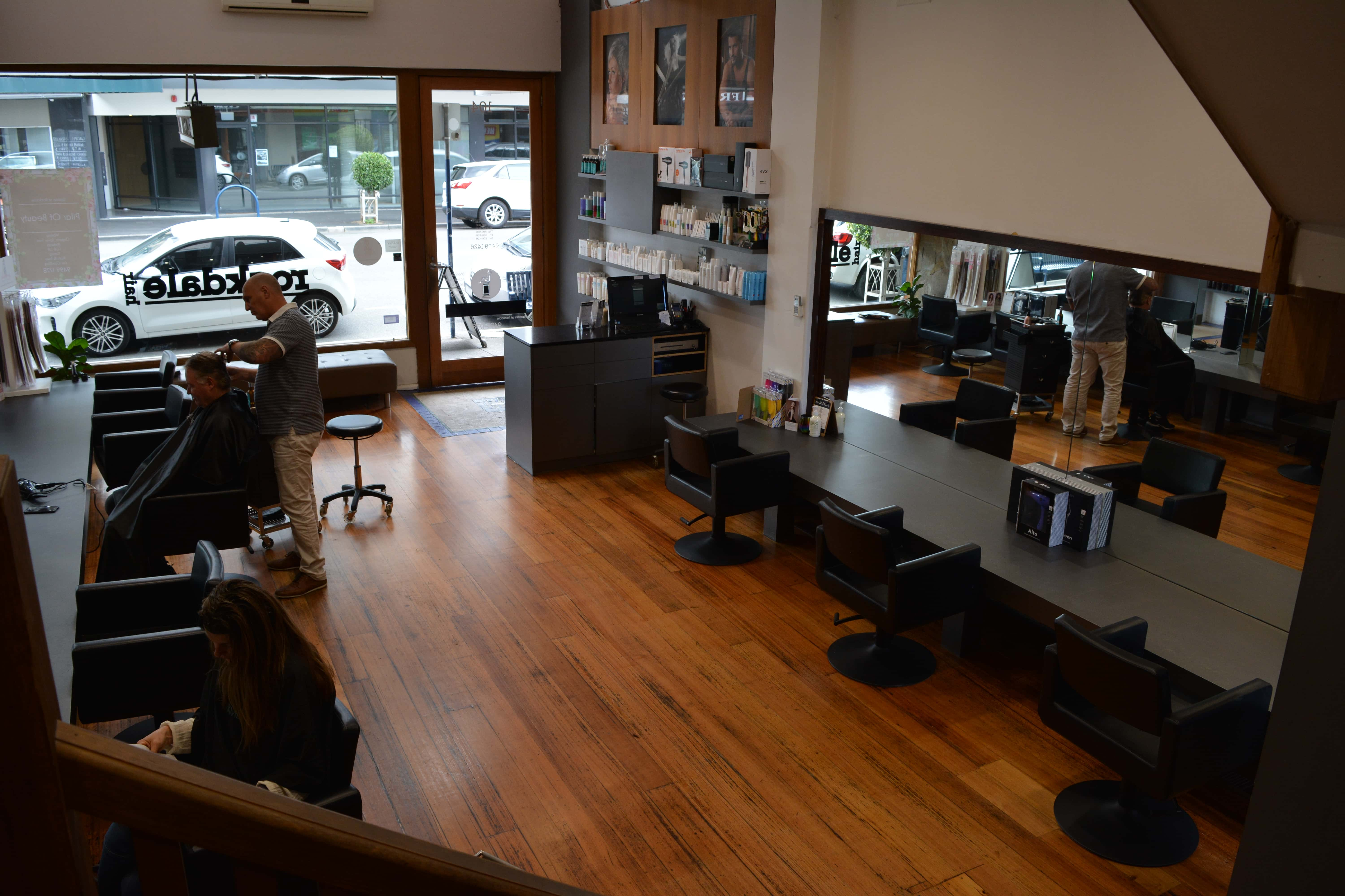 Rockdale Hair Salon with customers and hairstylist